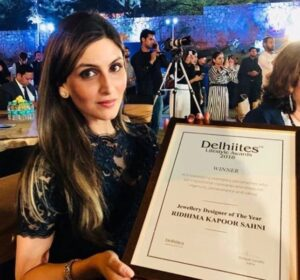 Delhiites Lifestyle Award for Jewellery Designer (2018