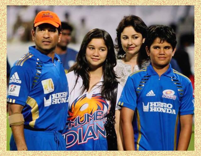 sara tendulker family sachin  and anjali tendulker and arjun