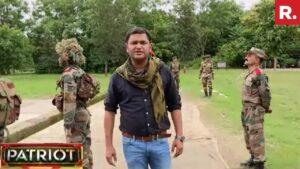 Major Gaurav Arya in army camp